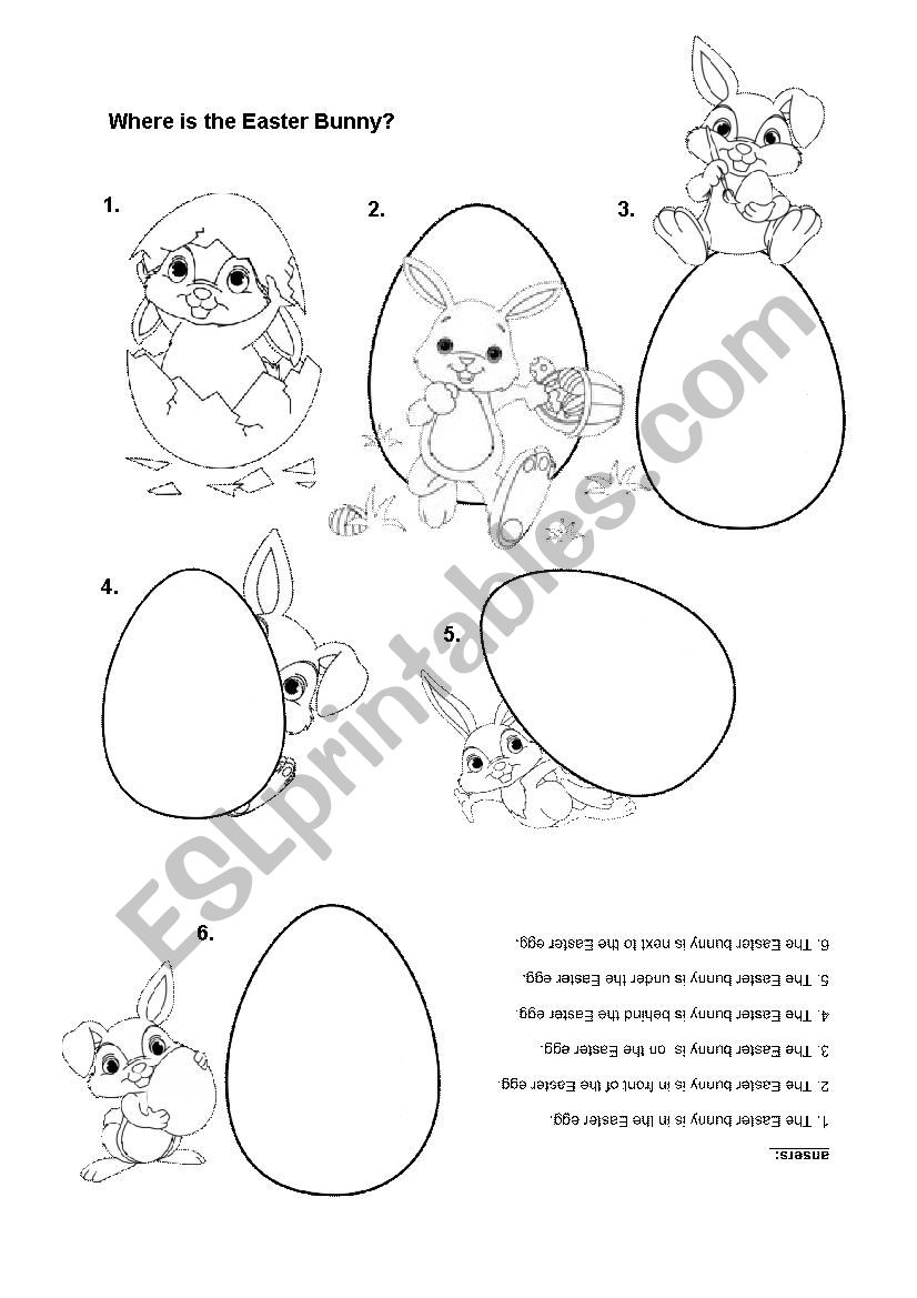 Where is the Easter Bunny? worksheet