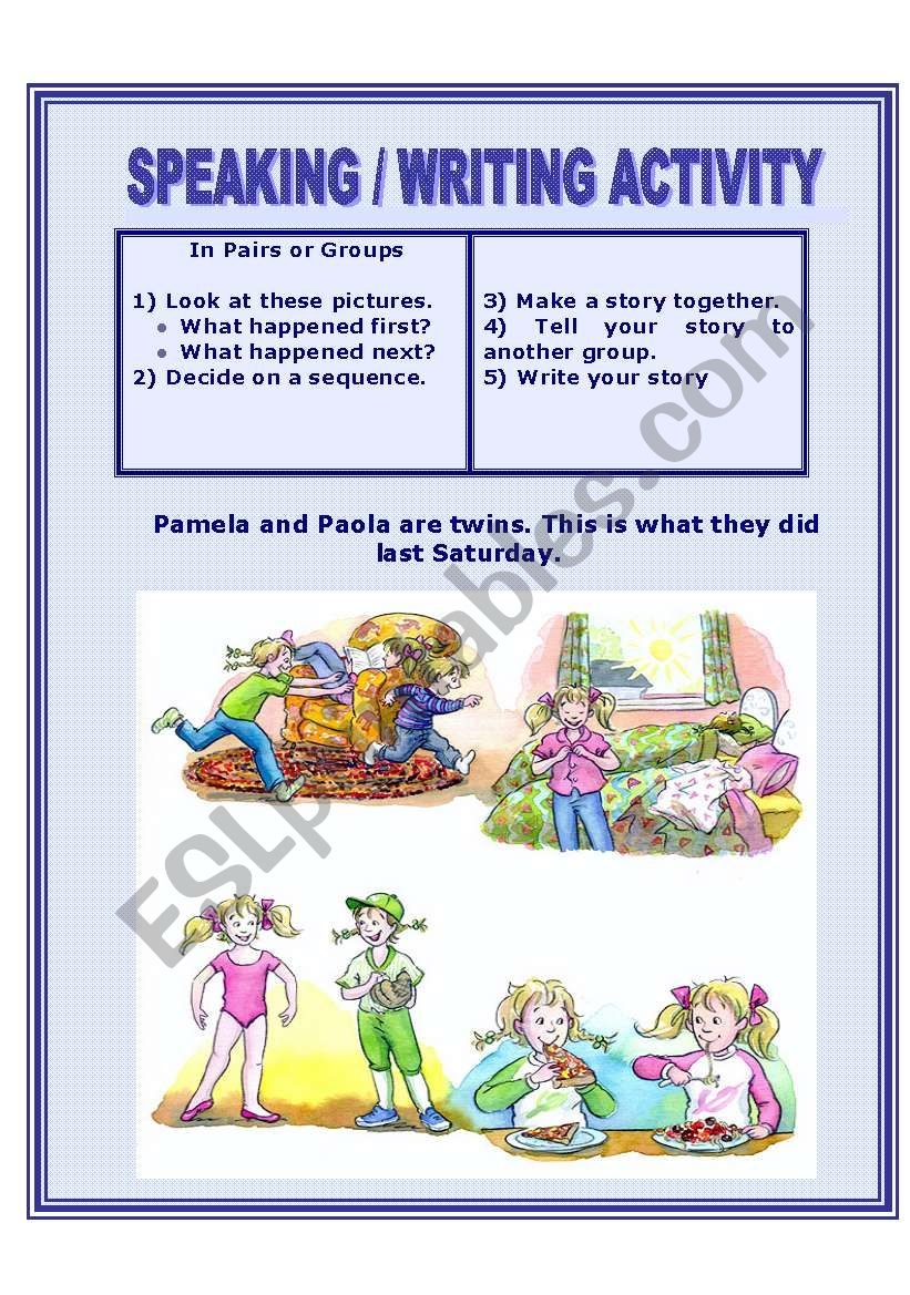 Picture Story worksheet