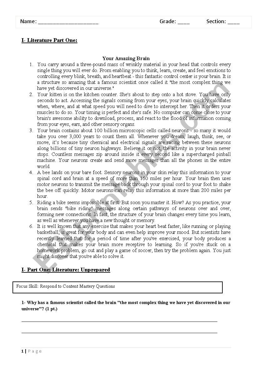 - Stories With Comprehension Questions - ESL Worksheet By Hope223