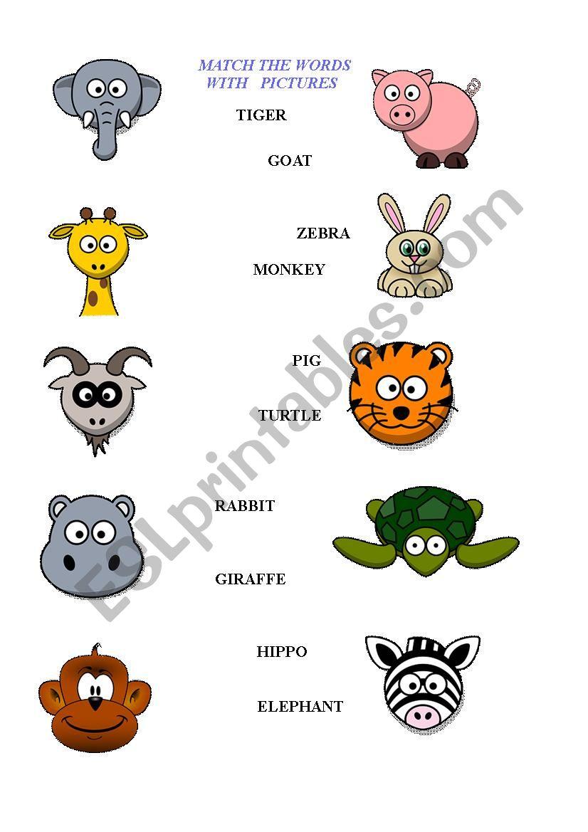 - Animals Worksheet - Kids - ESL Worksheet By Blanc1984