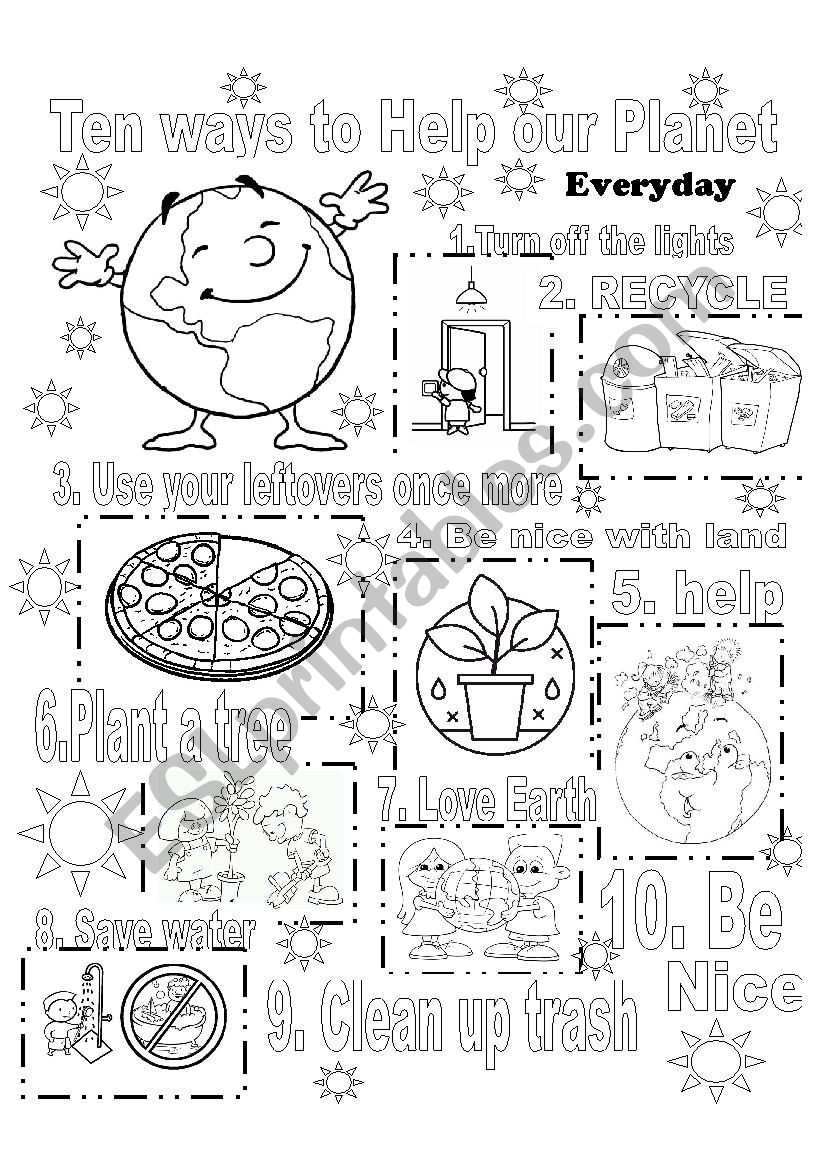 Earth day worksheet