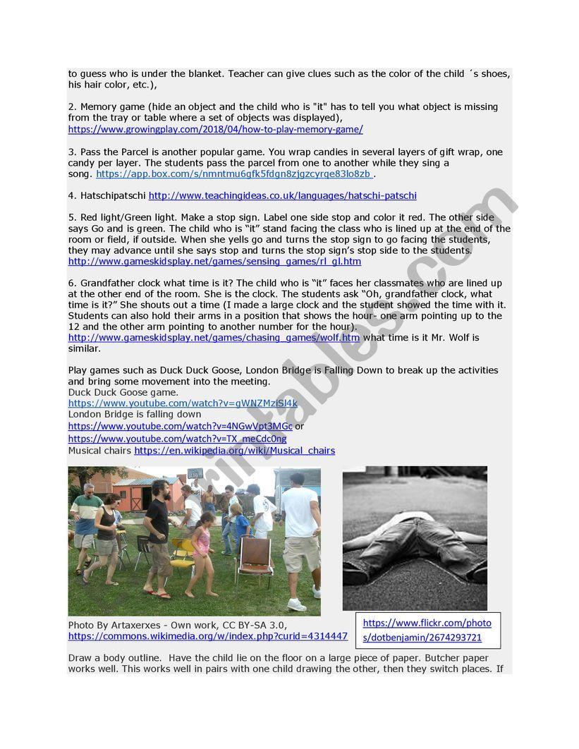 English Club Ideas - ESL worksheet by redcamarocruiser