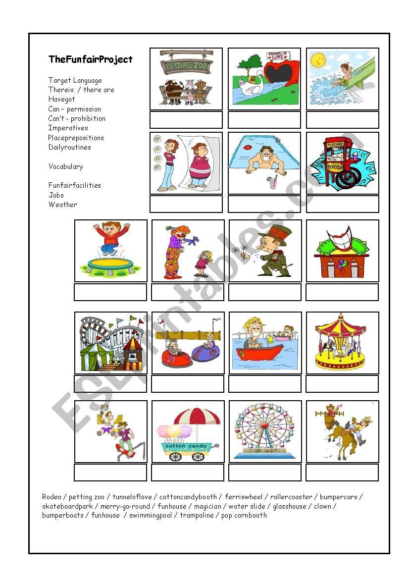 My Favourite  Funfair worksheet