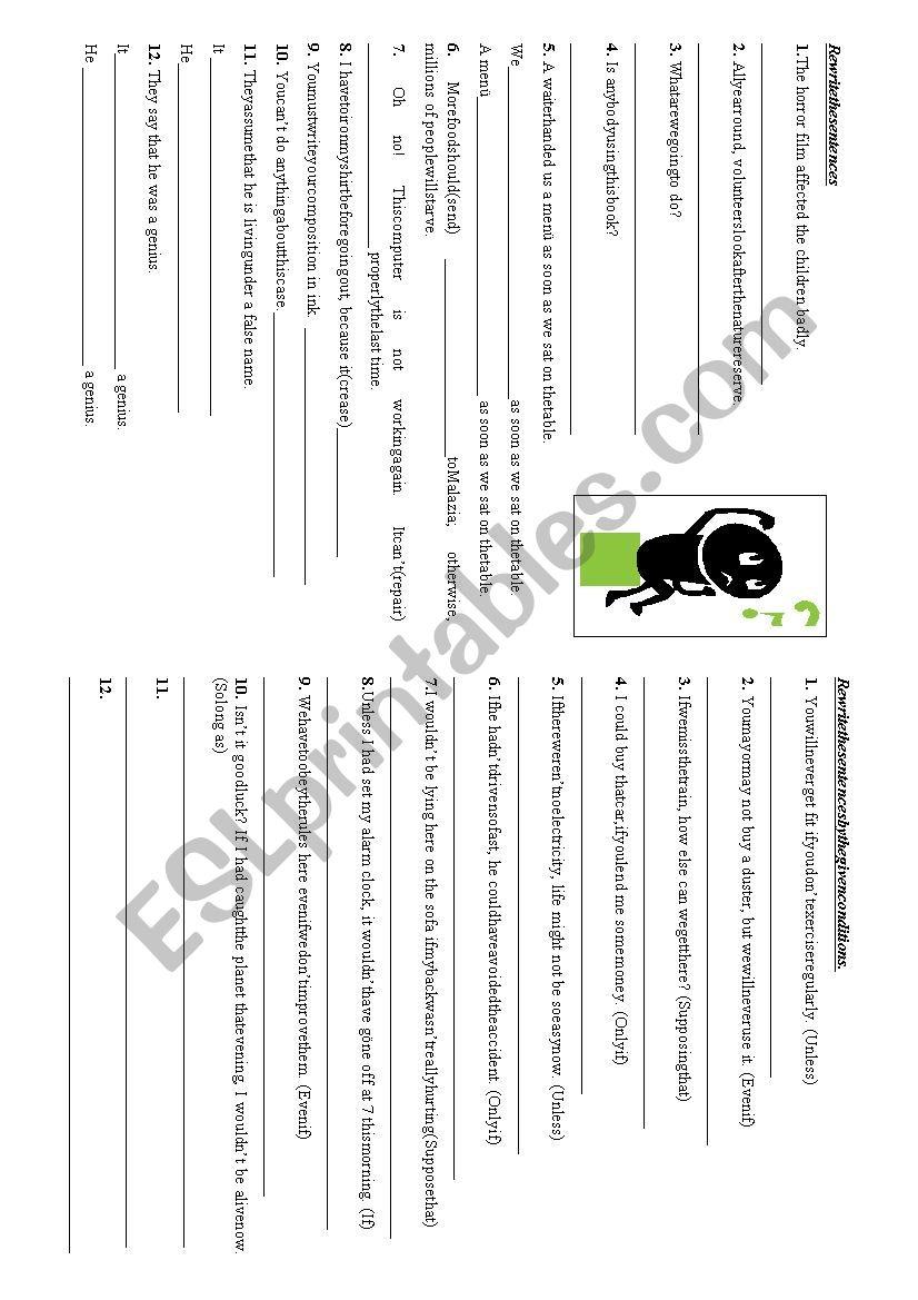 Revision Studies 1 worksheet