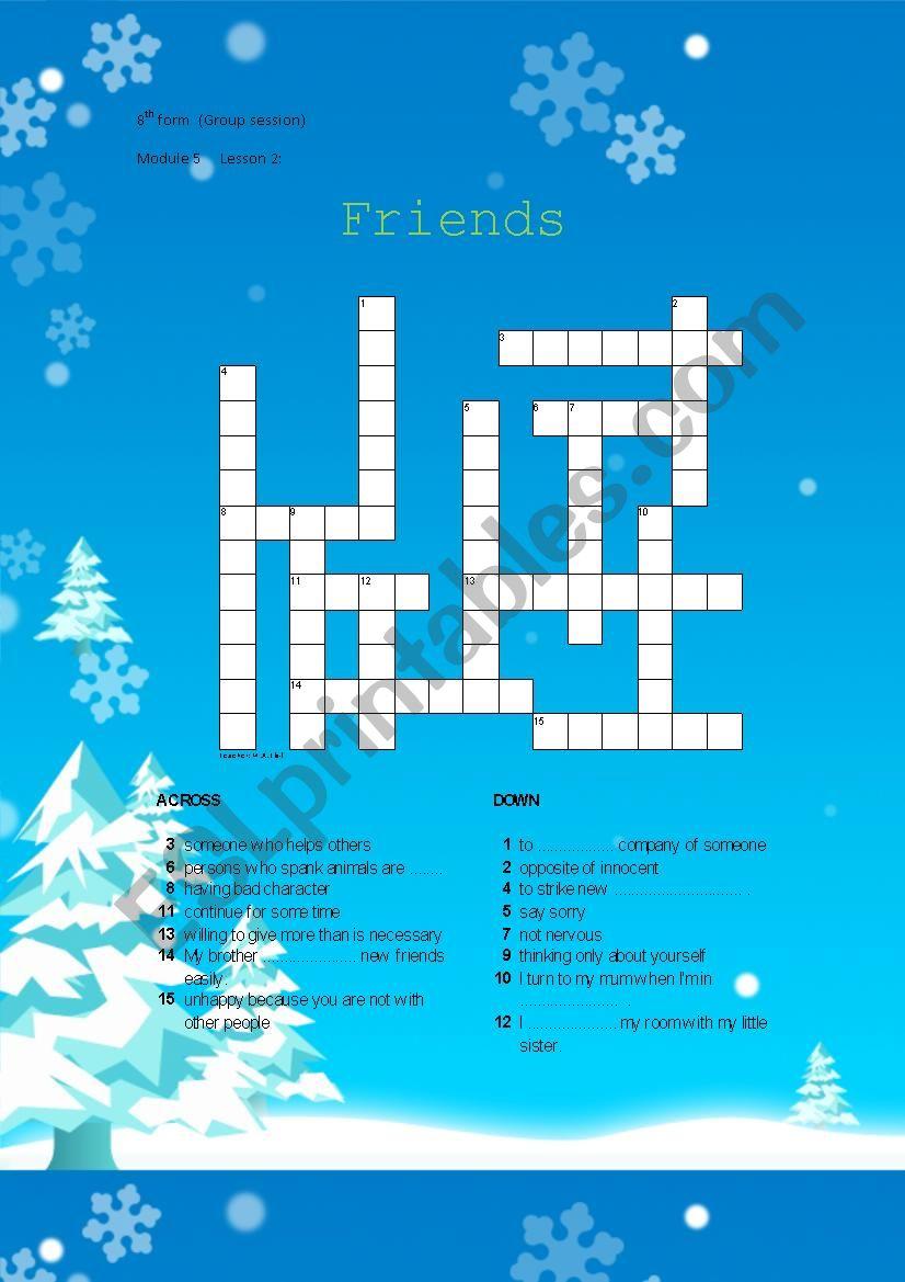 8th form Module 5 Lesson 2: Friends