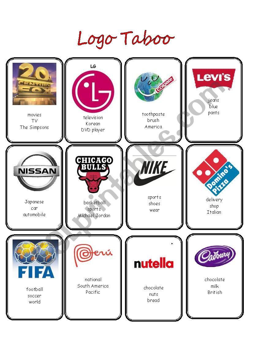 Advertising Logo Taboo worksheet