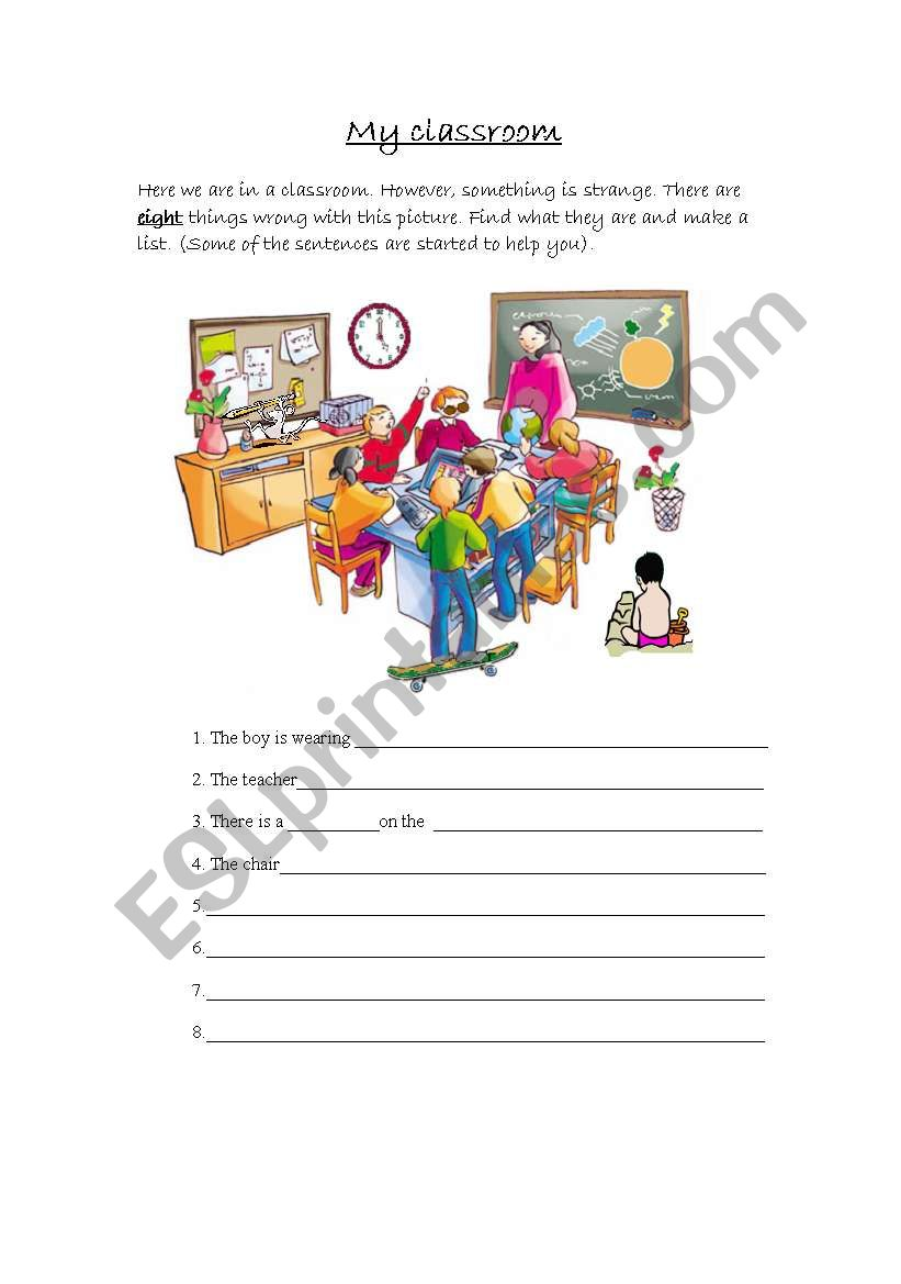 My strange classroom worksheet