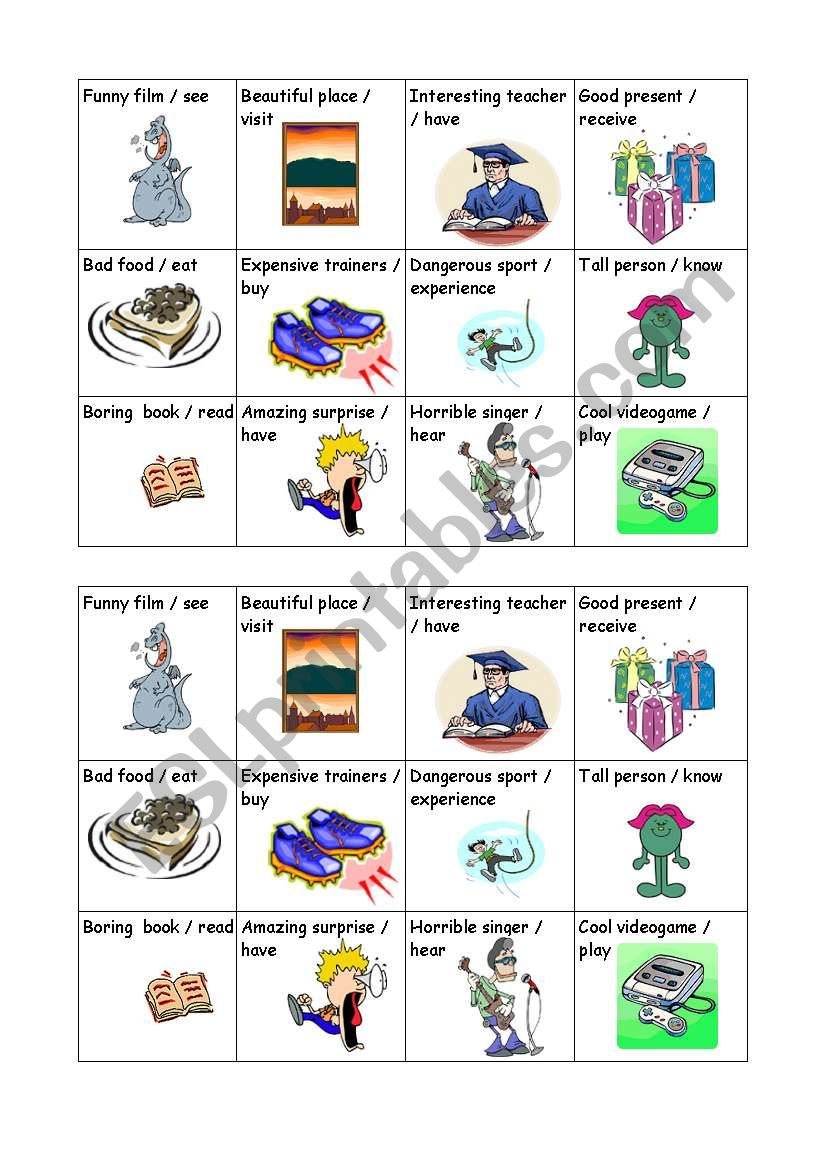 Oral practise with the superlative and the present perfect