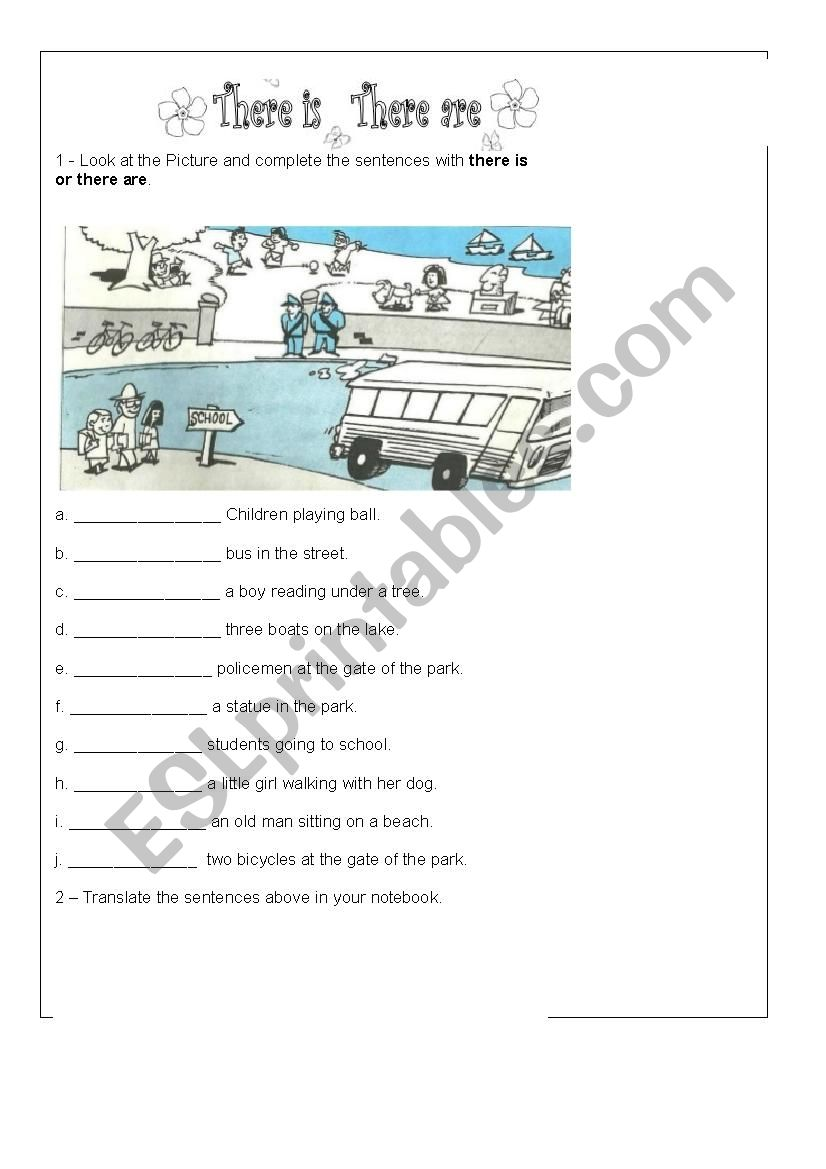 THERE IS OR THERE ARE worksheet