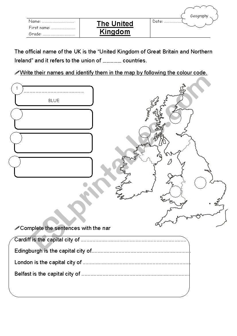 The United Kingdom worksheet