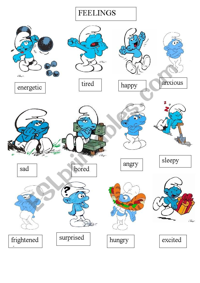 Smurfs worksheet
