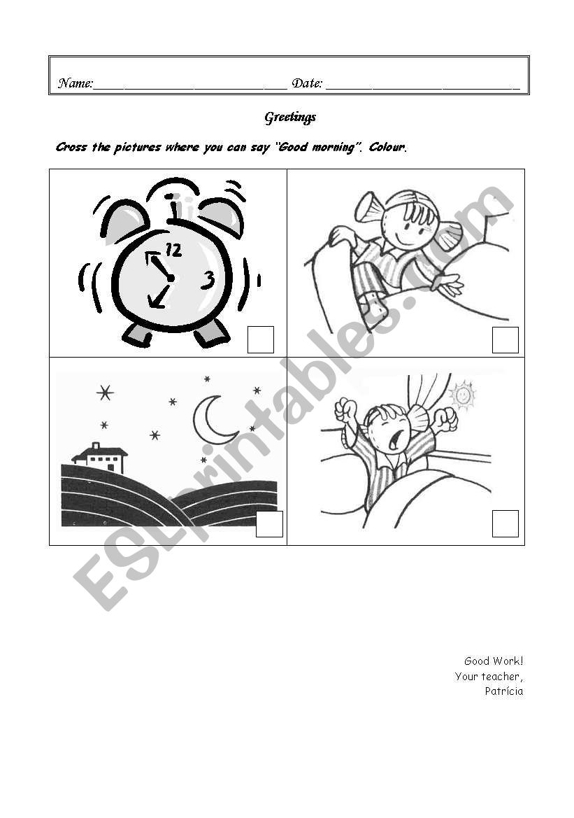 Greetings Activities For Kids