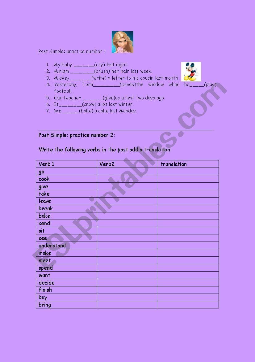 Grammar worksheet for beginners