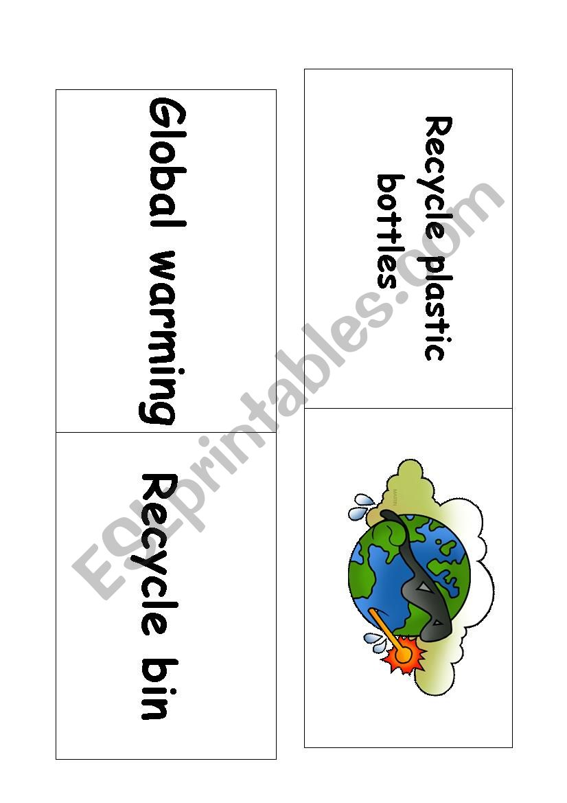 Ecology domino game worksheet