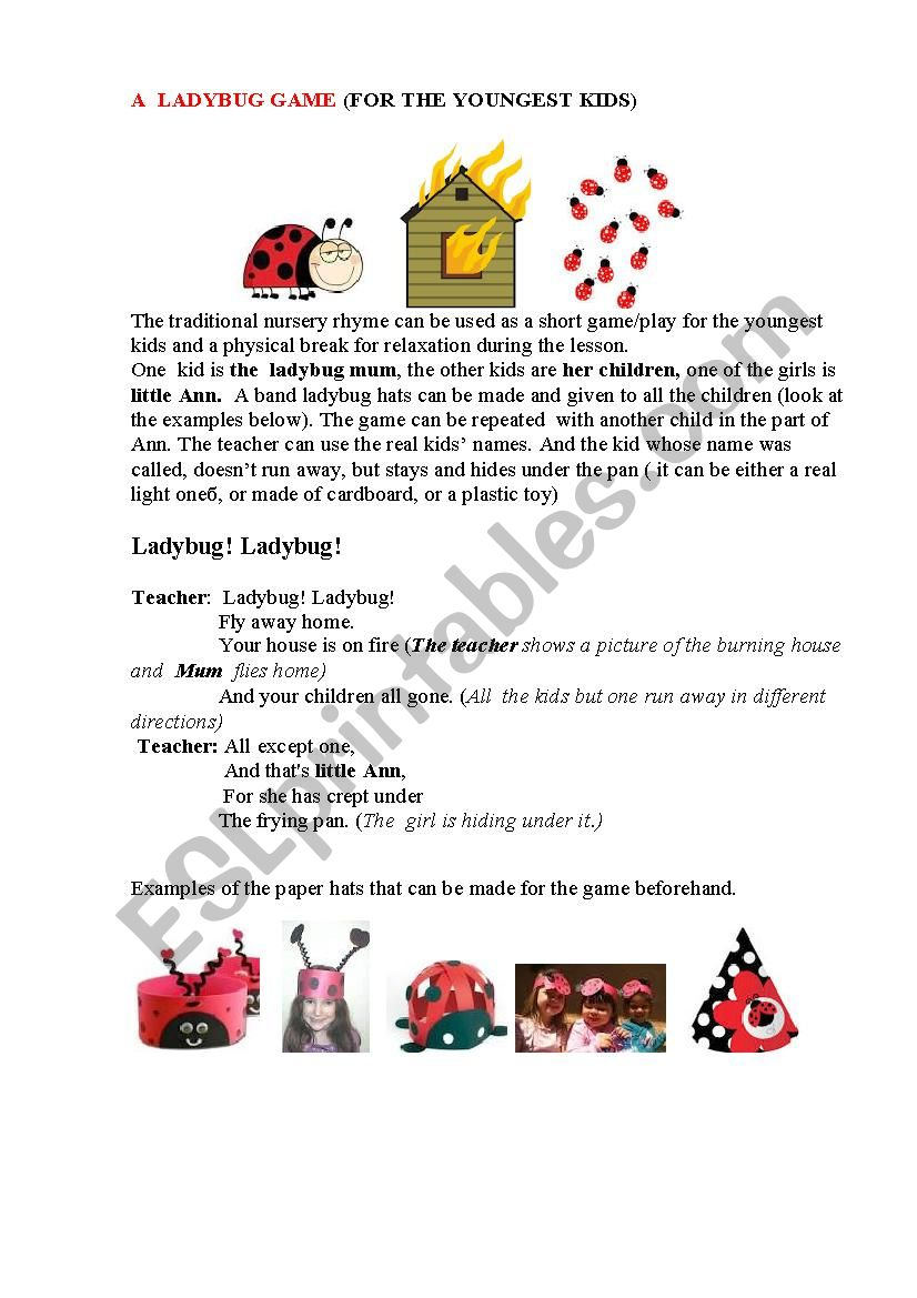LADYBUG (a game for the youngest)