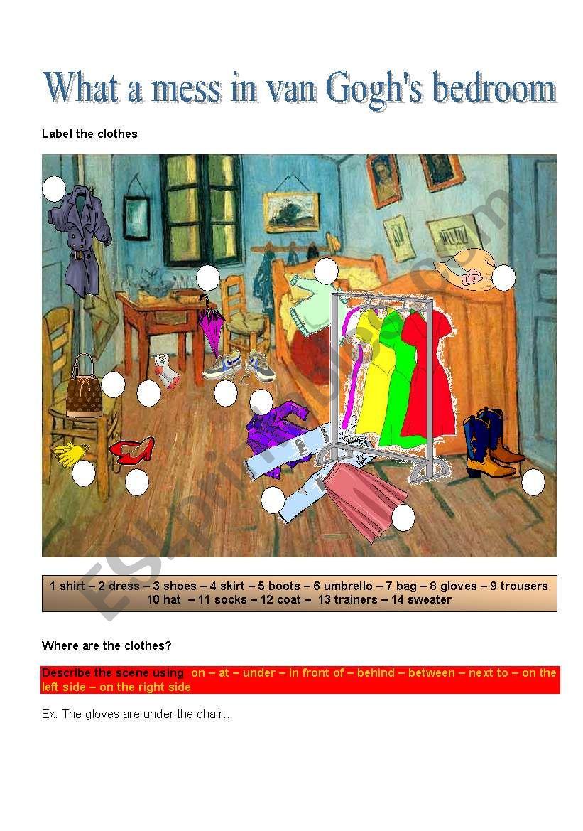WHAT A MESS IN VAN GOGH´S BEDROOM