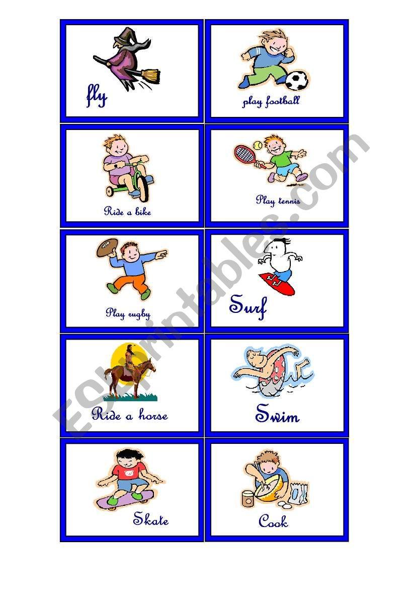Memory game worksheet