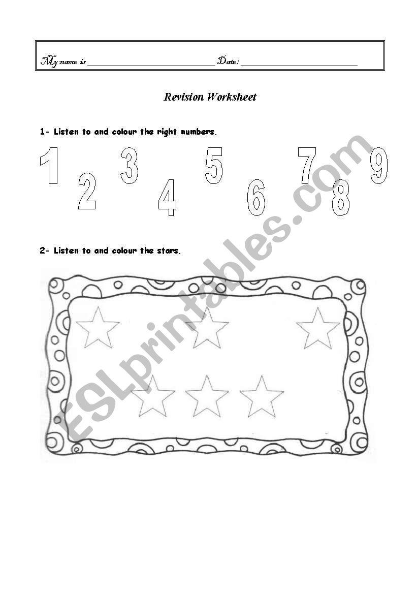 English worksheets: Revision worksheet - 1st / 2nd Grade (2 ...