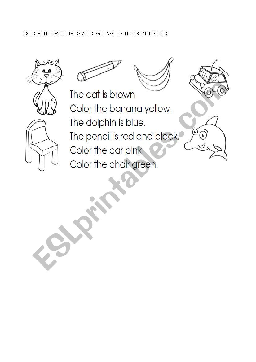Color the pictures worksheet