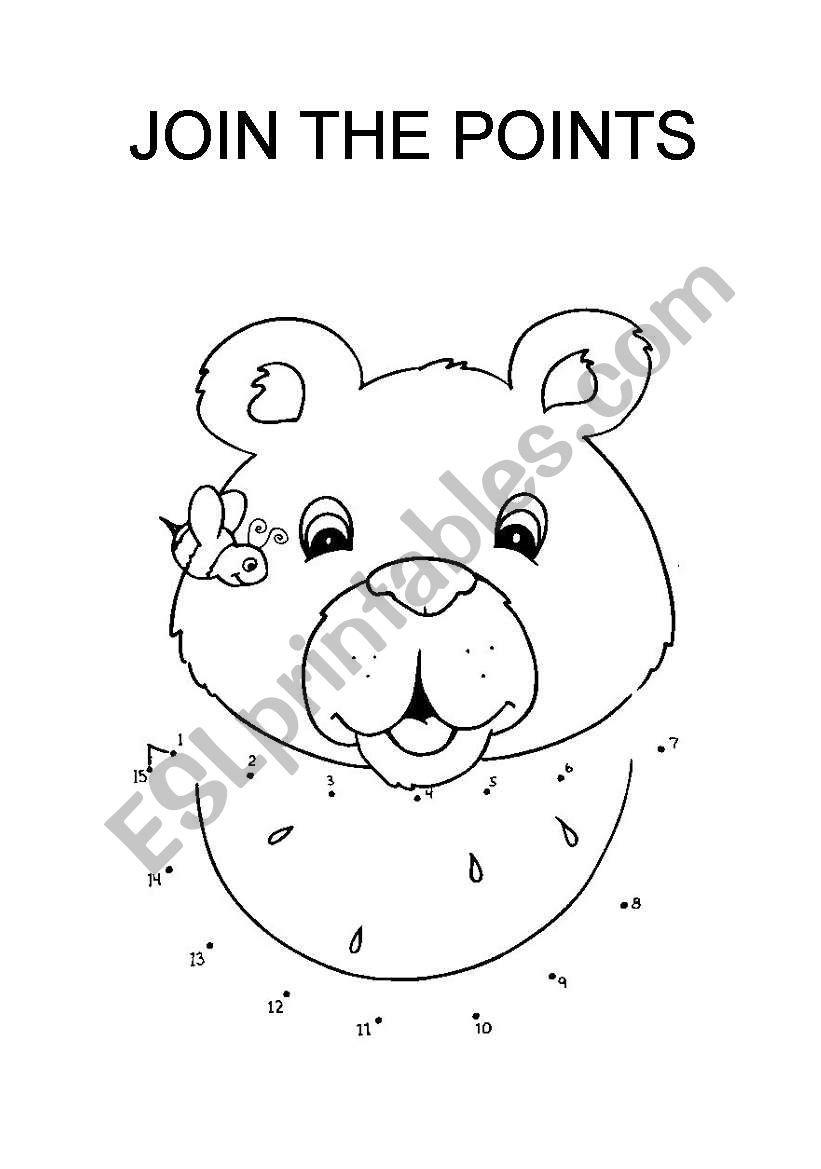 join the points bear worksheet