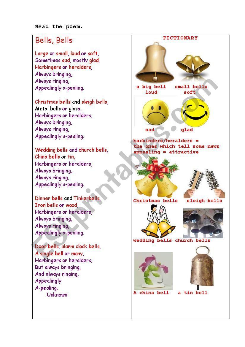 BELLS, BELLS  (a poem + questions)