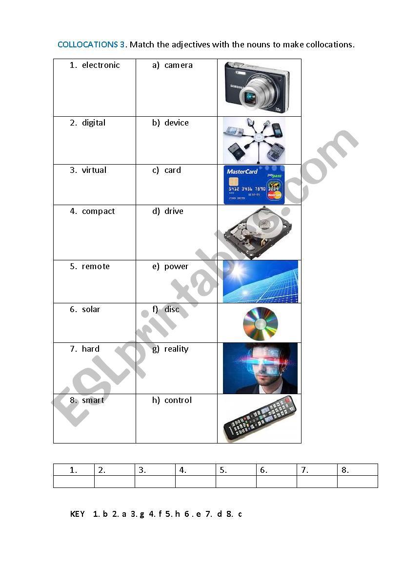 COLLOCATIONS 3 worksheet