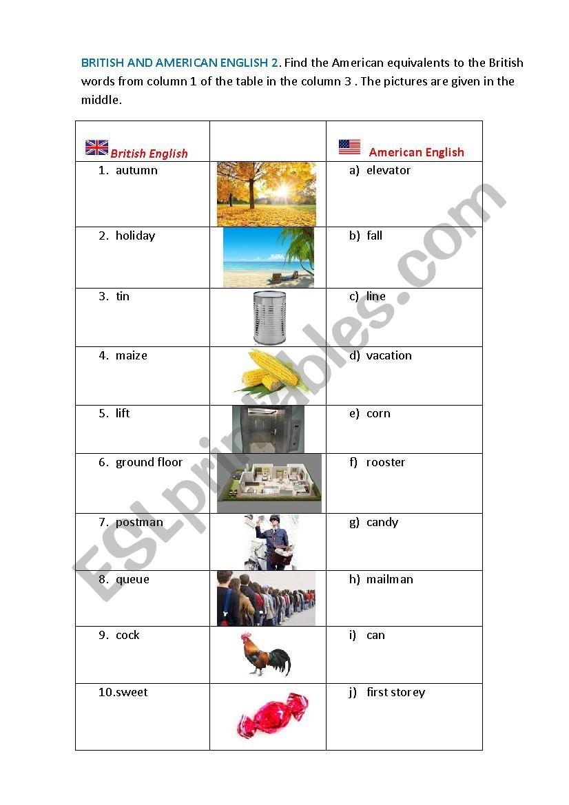 British and Anmerican English 2
