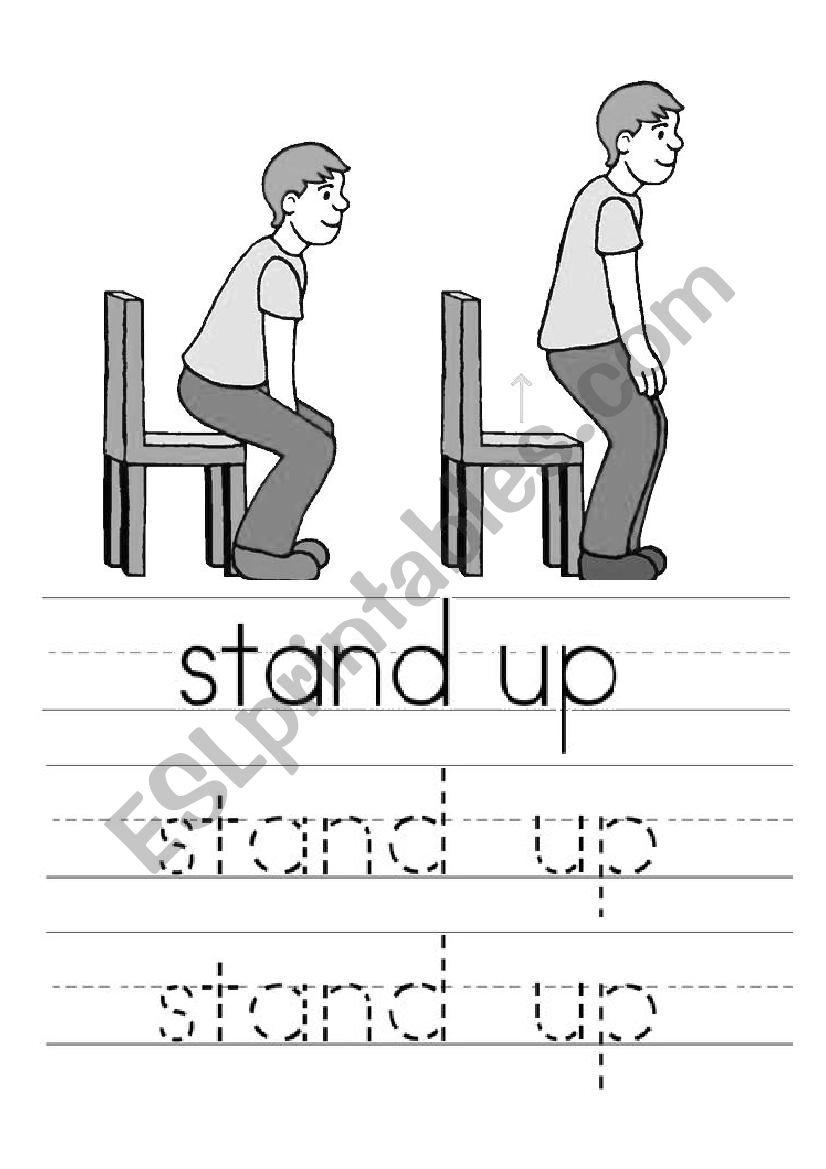 Basic Commands - Kinder worksheet