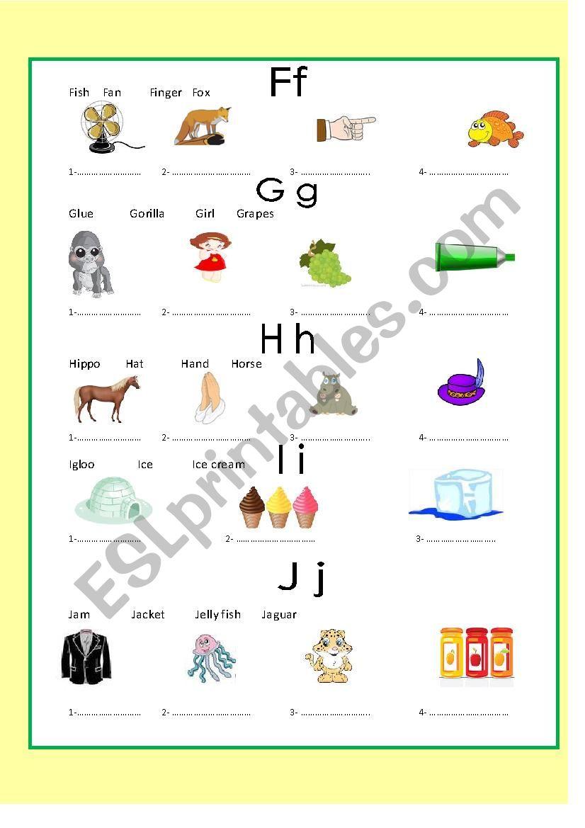 alphabets 3 exercise - ESL worksheet by moshy77
