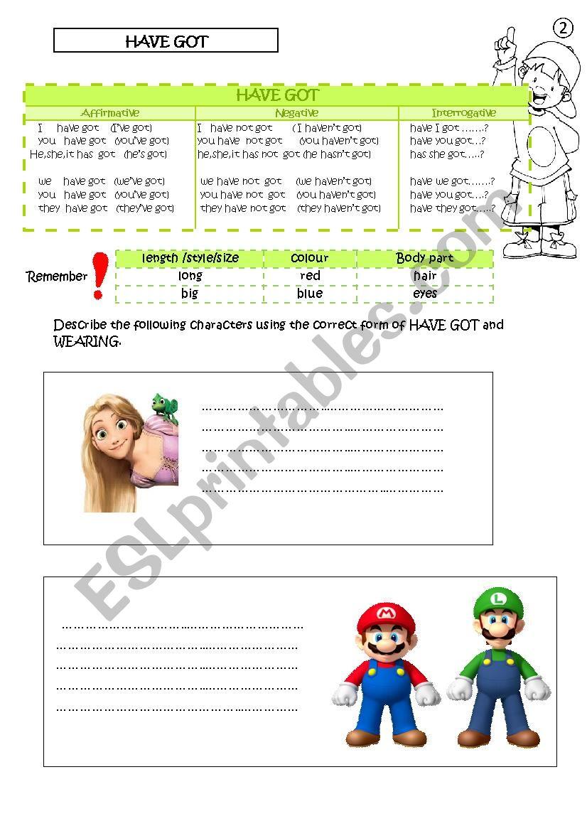 Have got worksheet