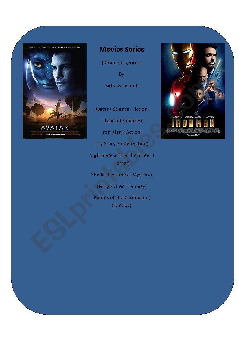 Blockbuster Series 1 worksheet