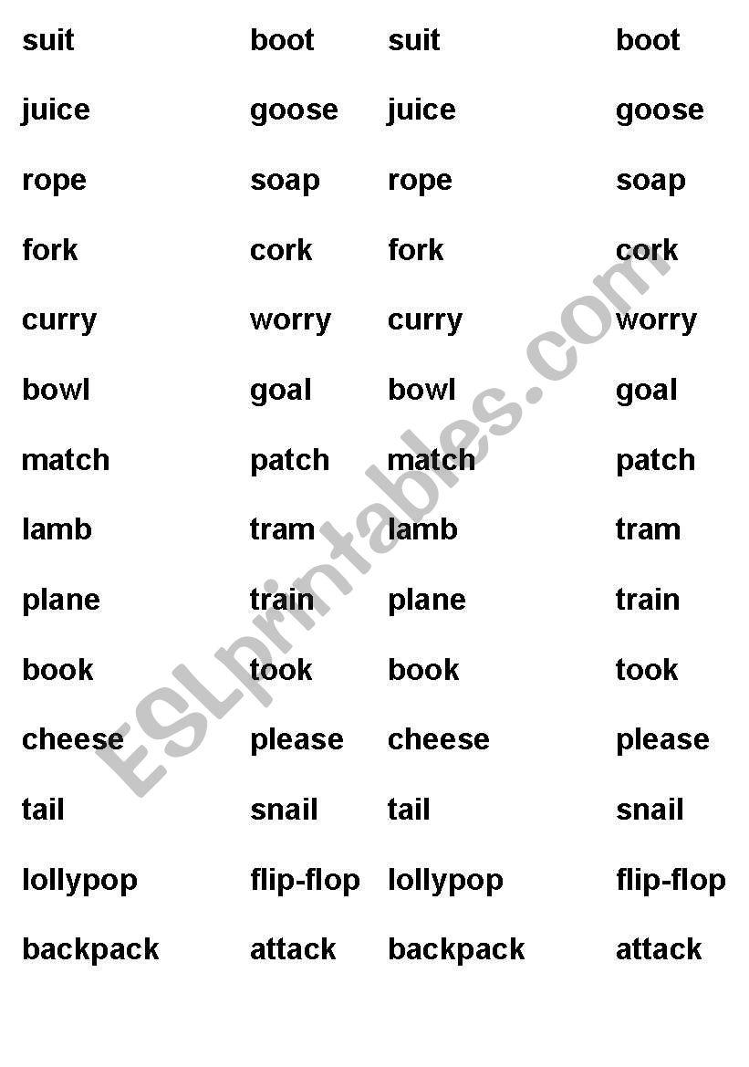 Rhyming Words - ESL worksheet by diamondjo