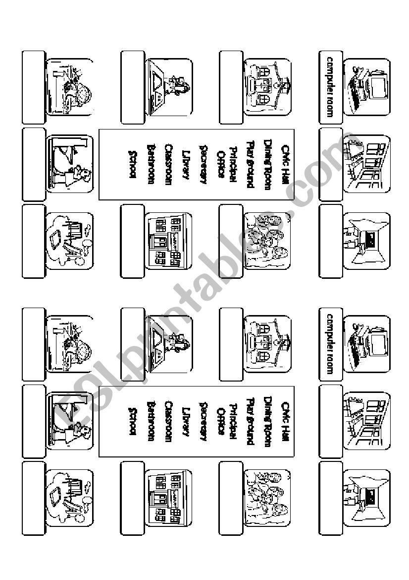 Rooms Worksheet: ESL Worksheet By Ilona