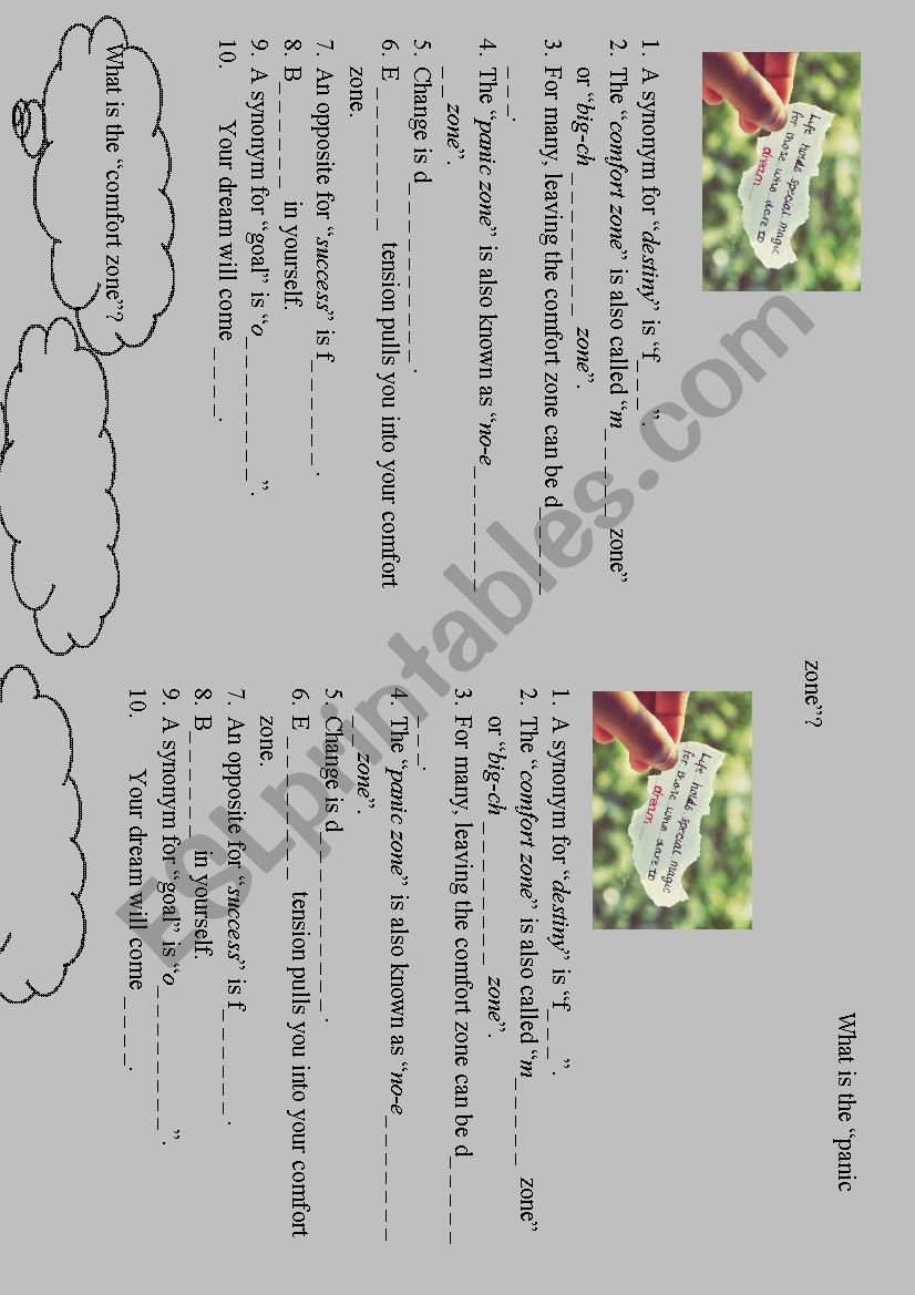 Do you dare to dream? worksheet