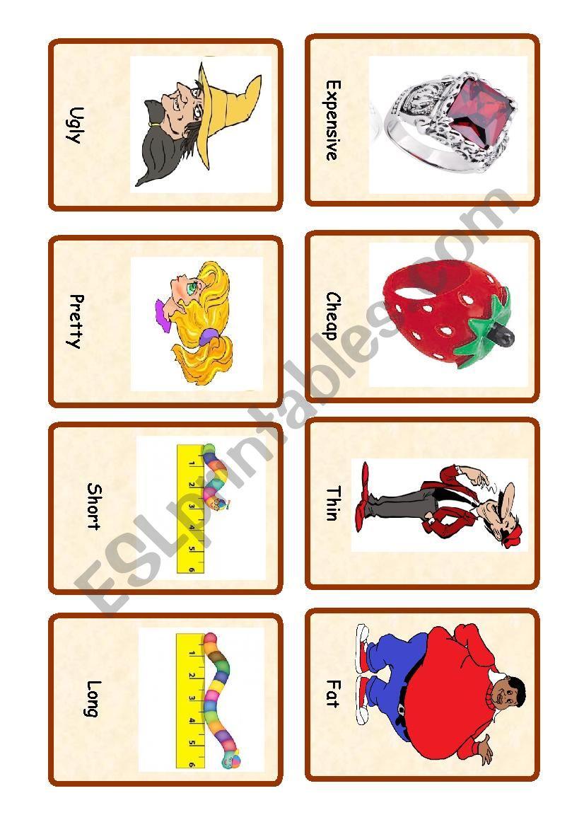 Opposites ( set of cards  1) worksheet