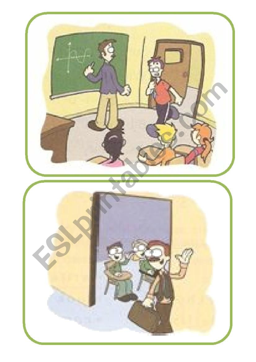Classroom language flashcards worksheet