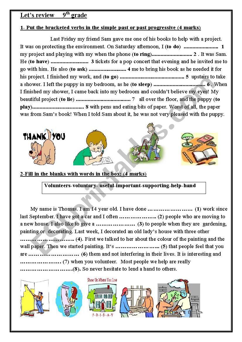 let´s review worksheet