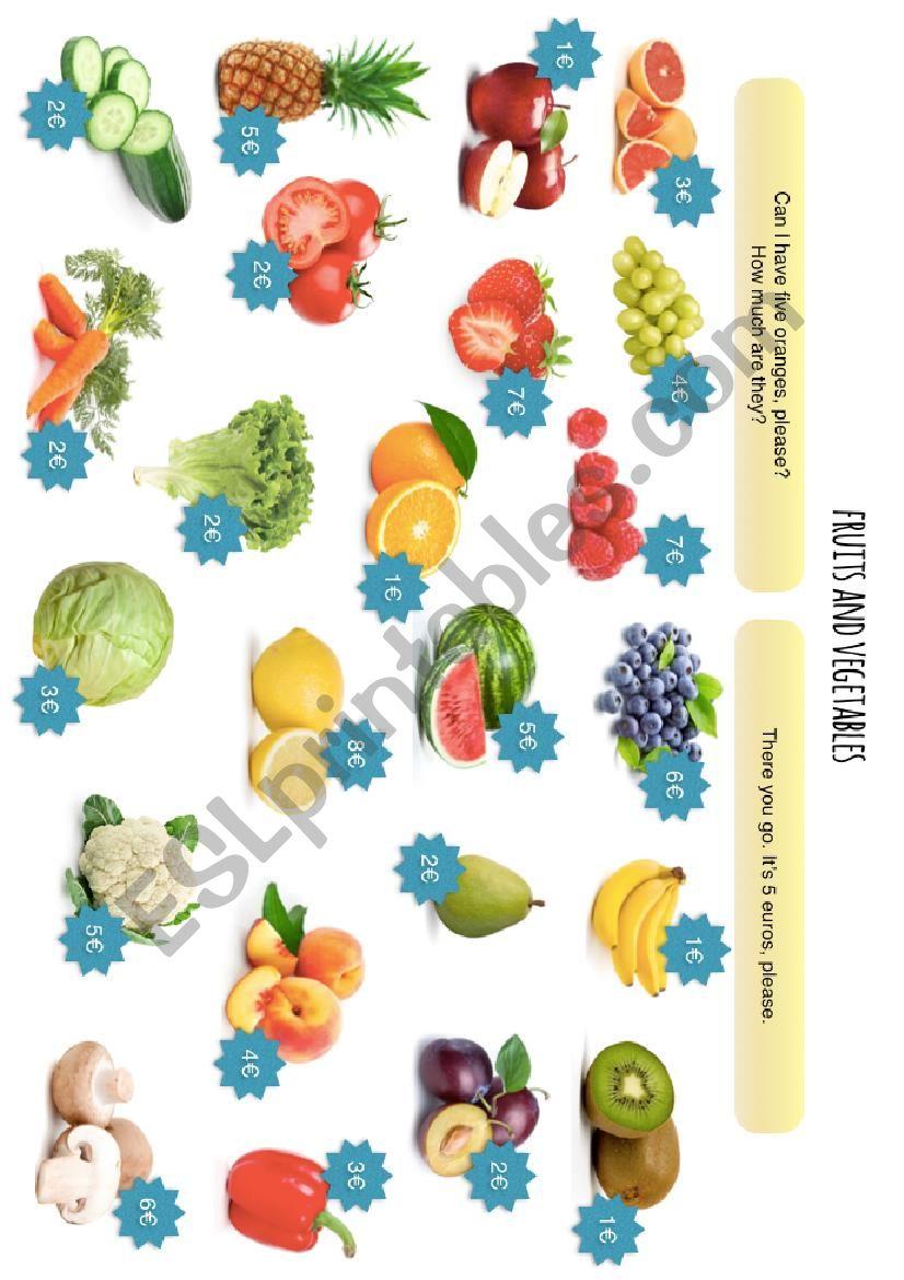 Fruits and Vegetables worksheet