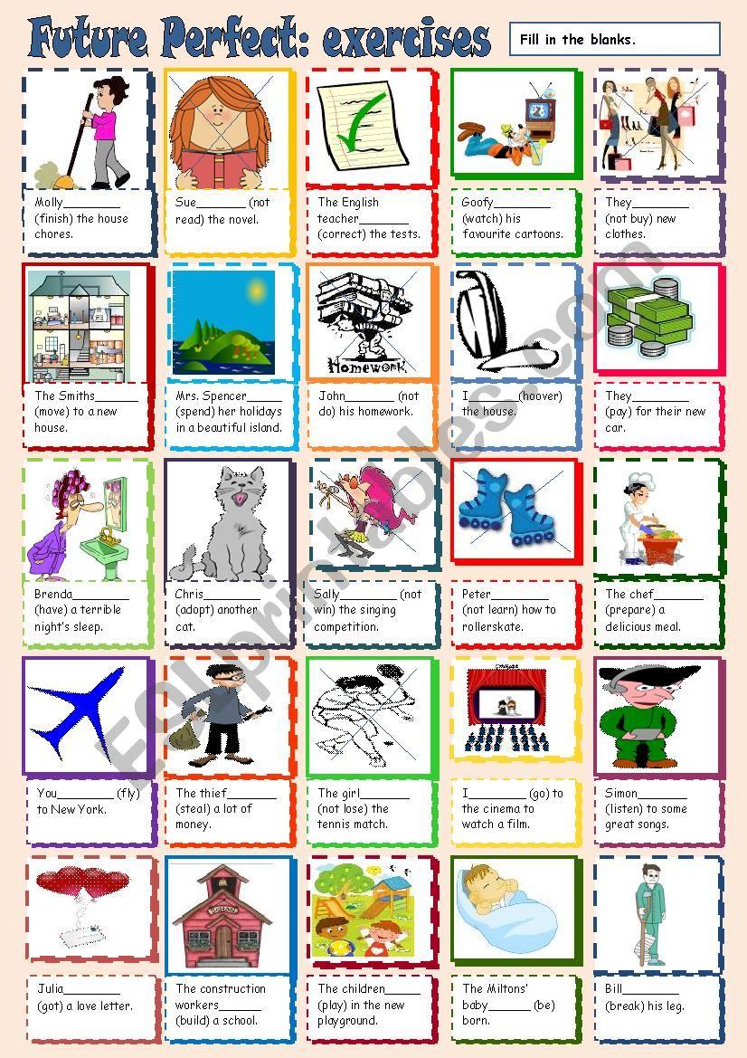 Future Perfect worksheet