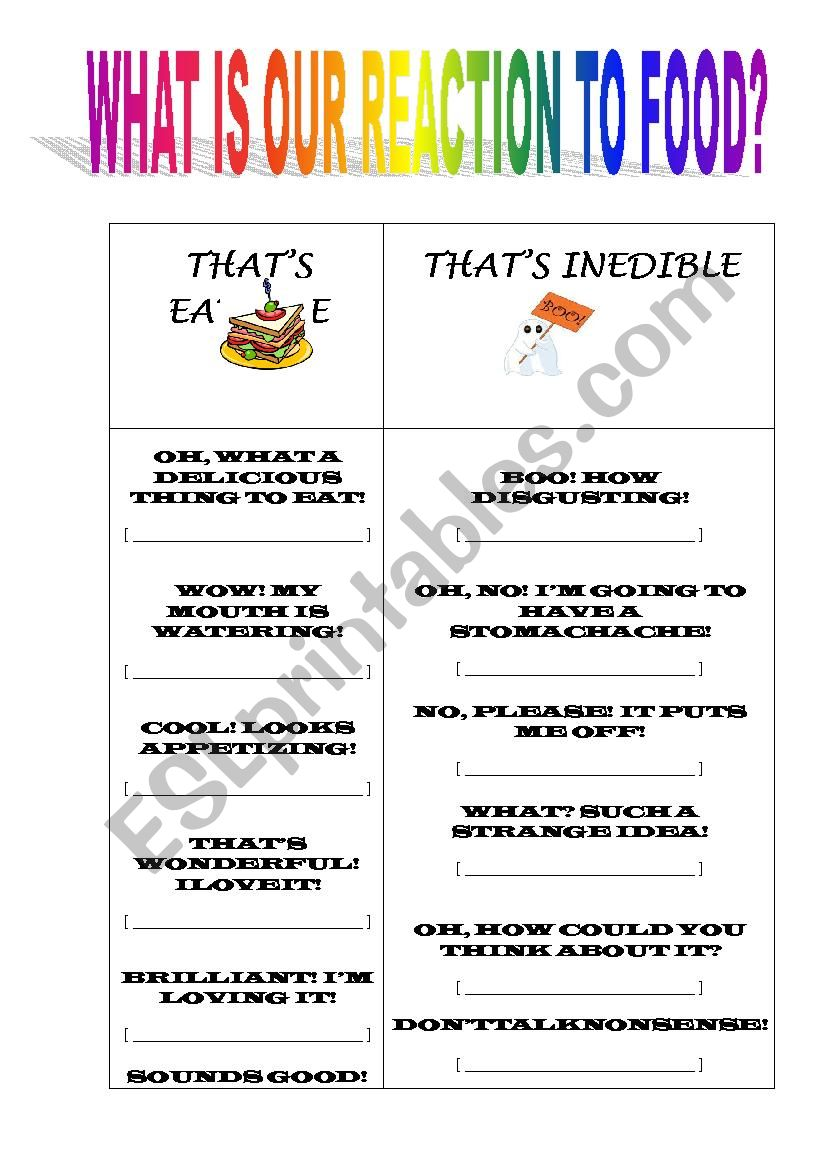 THE FUNCTIONAL LANGUAGE OF TAKING OR REJECTING FOOD