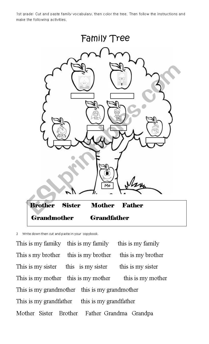 - Family For 1st Grade - ESL Worksheet By Pukkax