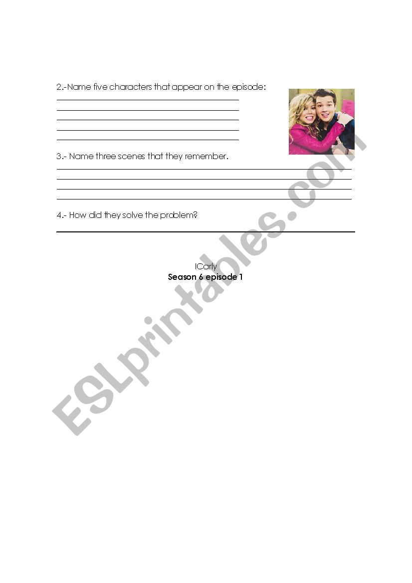 show icarly - ESL worksheet by nellito