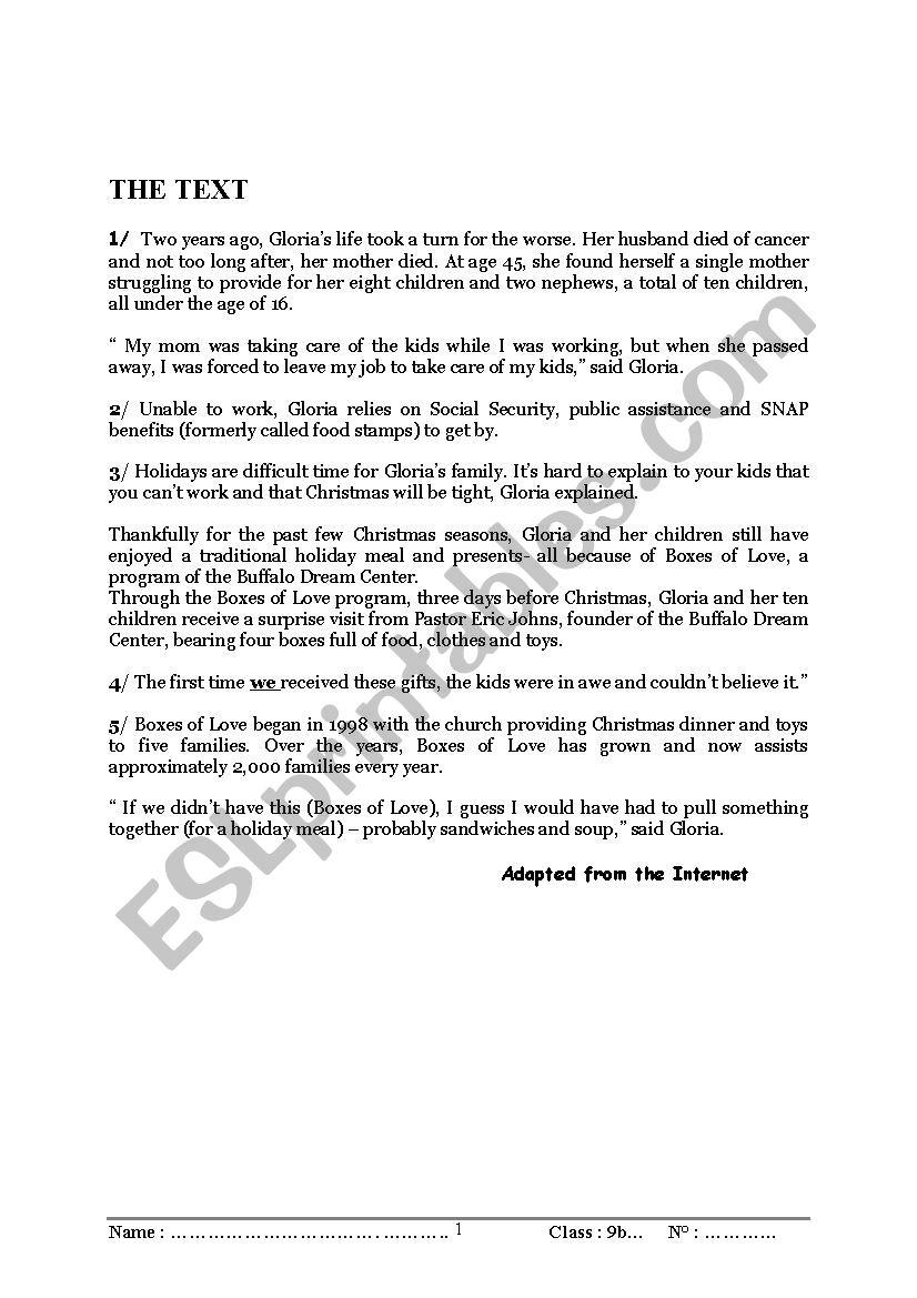 full -term test worksheet