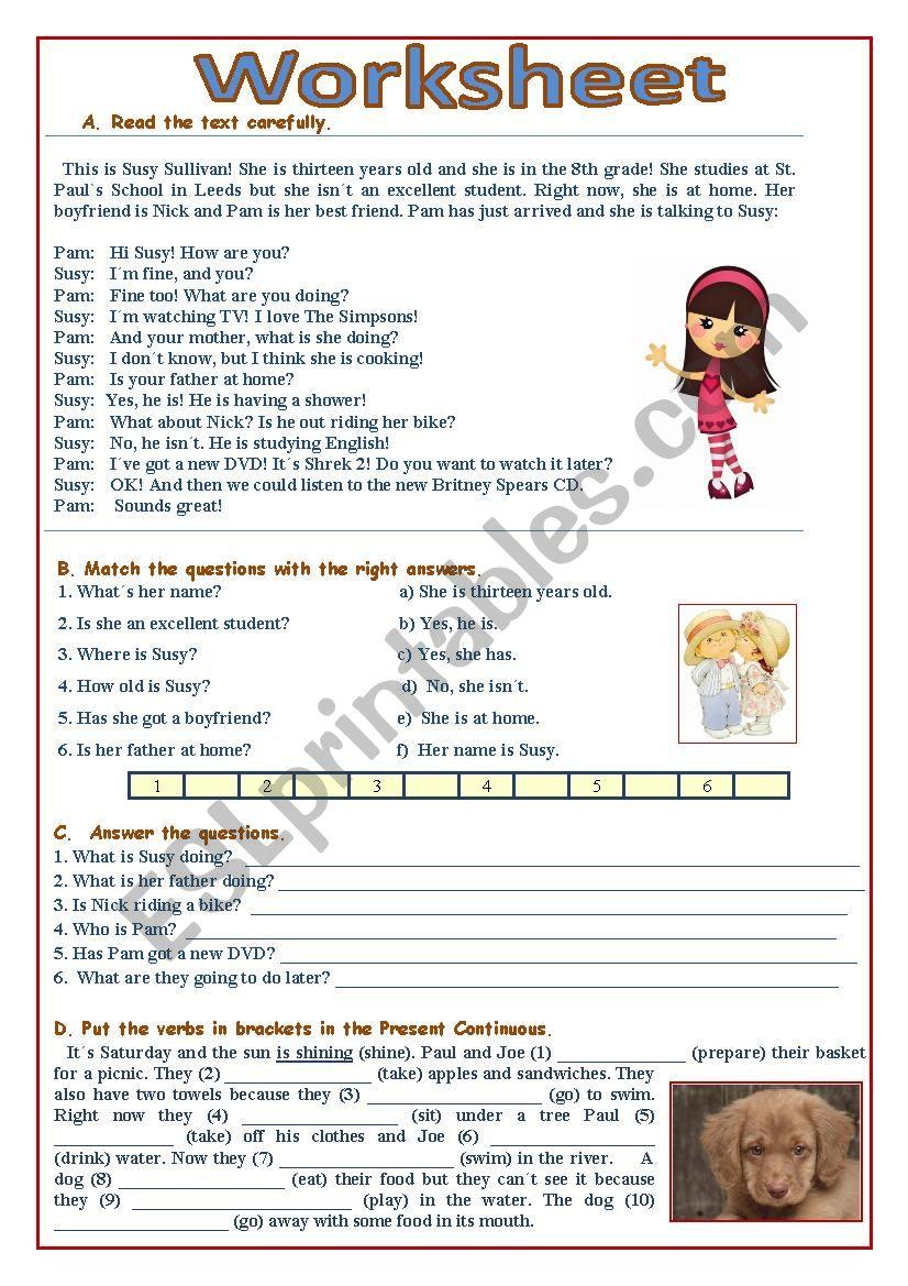 Susy worksheet