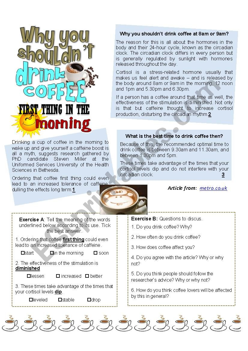 Why you shouldn´t drink coffee first thing in the morning