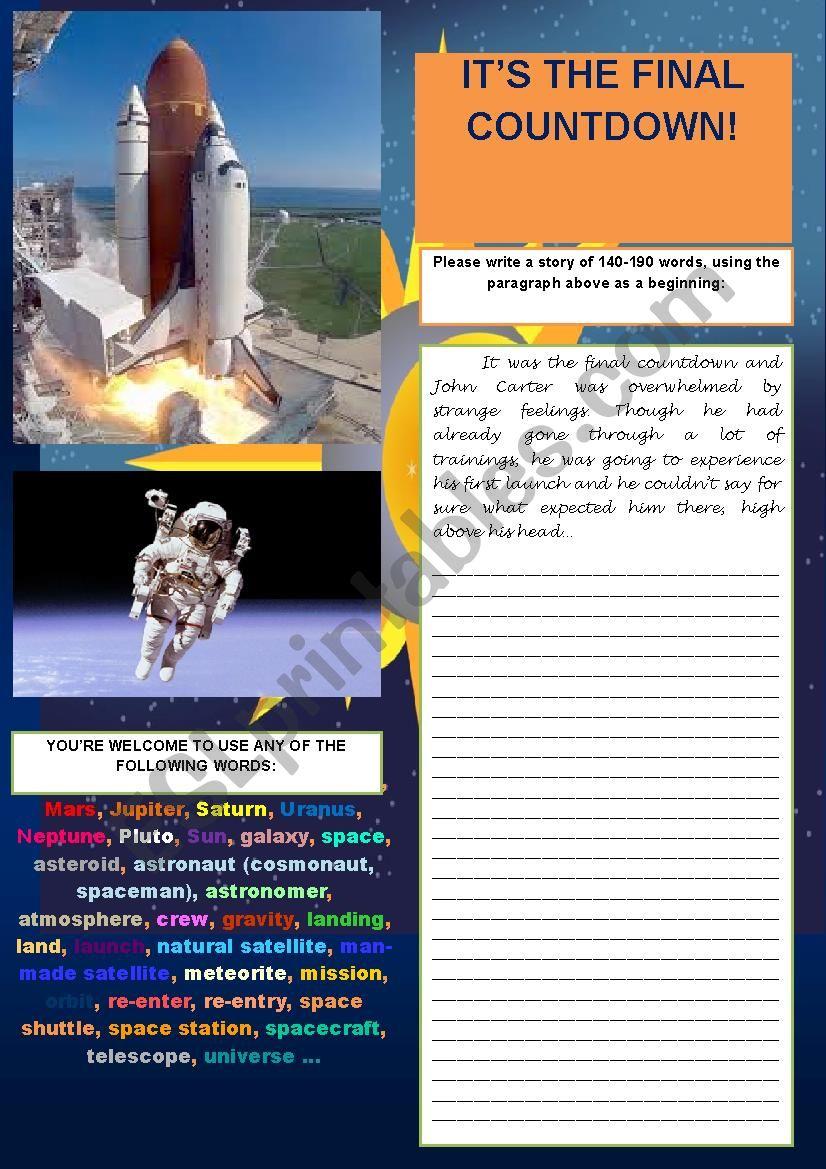 STORY WRITING (PRACTISING WRITING SKILL FOR FCE)