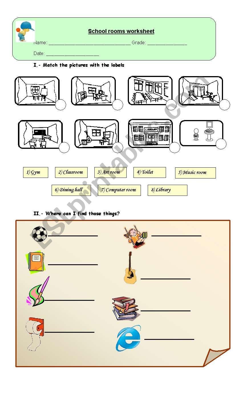 Rooms Worksheet: ESL Worksheet By Zpcamargo