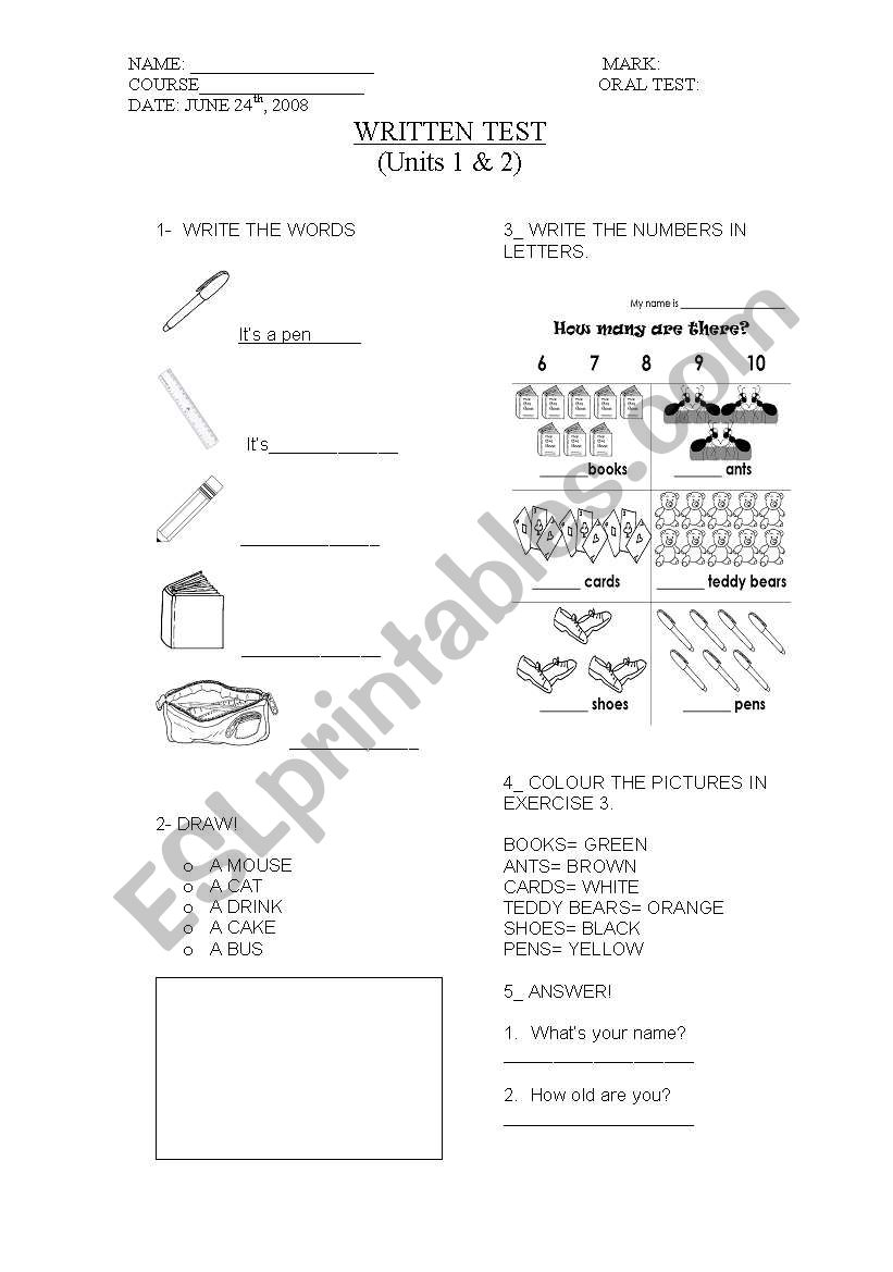 What´s this? worksheet