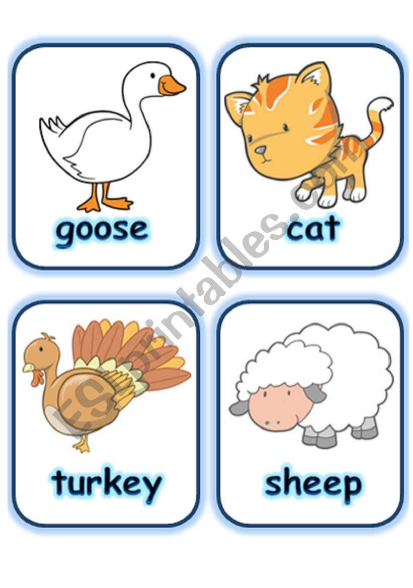 FLASHCARDS SET 2- FARM ANIMALS - PART 2