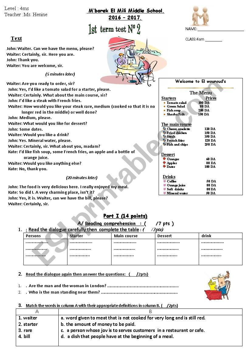 4 ms first term test n 2  worksheet